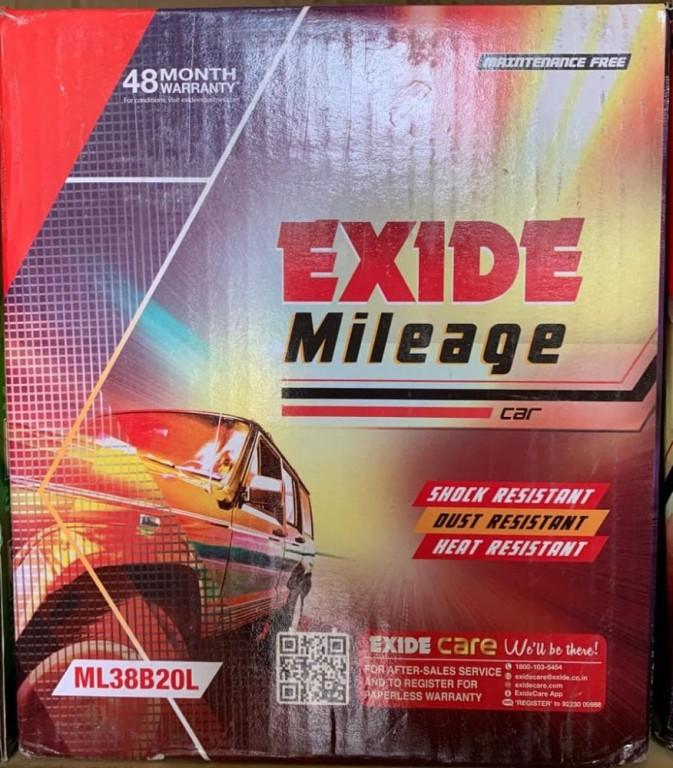 Exide Mileage ML38B20L