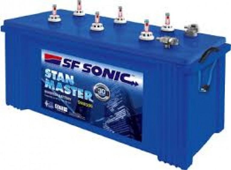 SF Sonic Stan Master SM 4000 100AH Tubular Battery